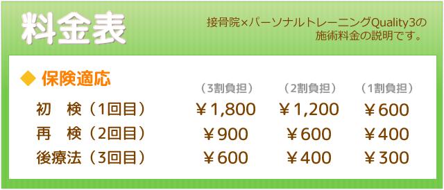 保険治療 料金表